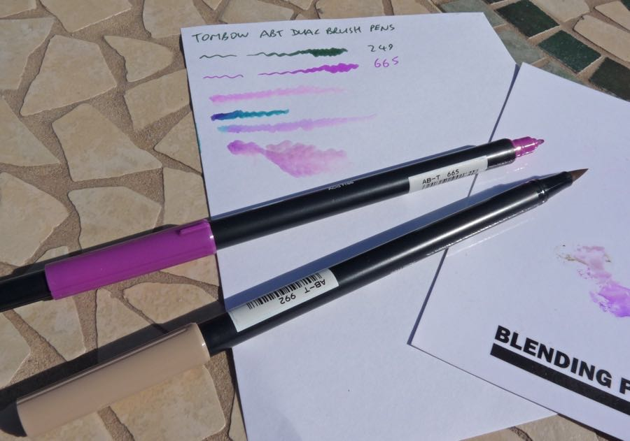 Tombow ABT Dual Brush Pen Review Pens Paper Pencils - Tombow abt
